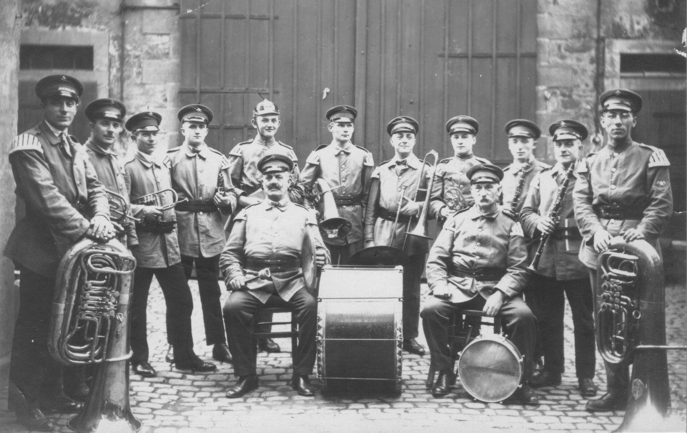 Musikverein als Feuerwehrkapelle 1920